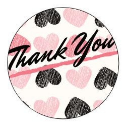 24 Thank You Stickers