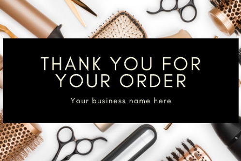 100 Thank you cards for hair stylist or weave shop