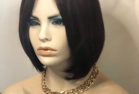 "100% human hair 5"" lace part wig"