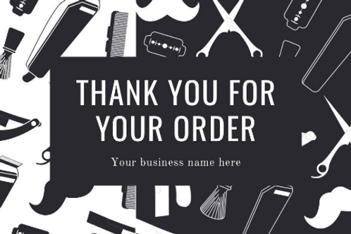 100 Thank you cards for barbers