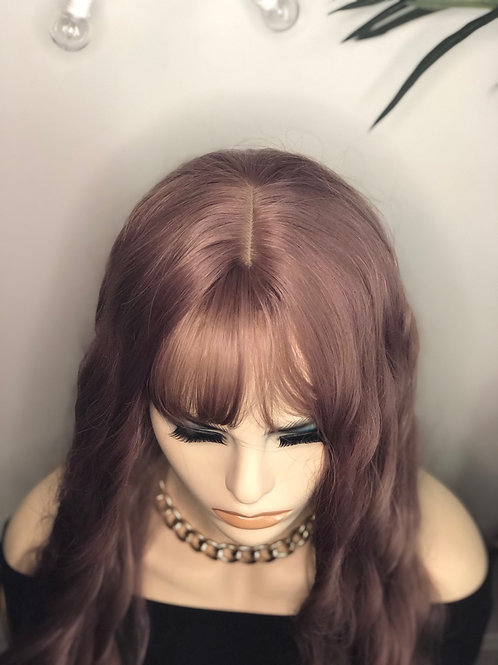 Lavender 20 inch wig with bangs