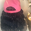 Thumbnail: Wig hat with short bob length curly black textured  hair- breast cancer awarenes