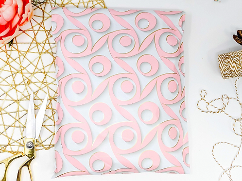 10ct 14x17 Large Pink Swirl Poly Mailers