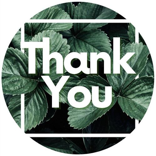 24 Leaf Thank You Stickers
