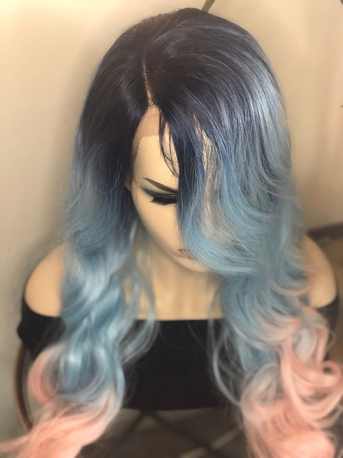 Blue to pink ombre