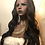 Thumbnail: Black wavy Headband Wig black 1b