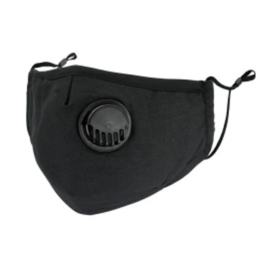 Solid black mask with filter slot