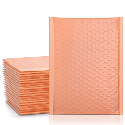 6.5x10 Peach bubble mailer 10ct