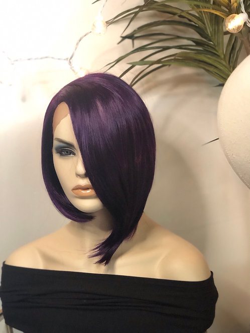 C curved part purple wig