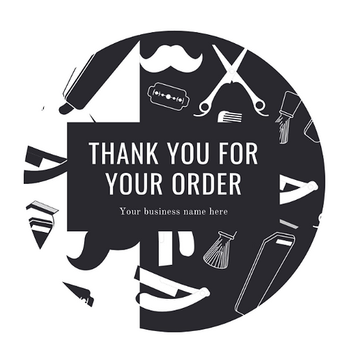 24 Thank You Stickers For barbers