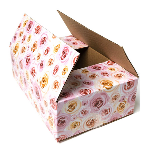 5 boxes 9x6x3 Floral Designer Mailing Box shipping box