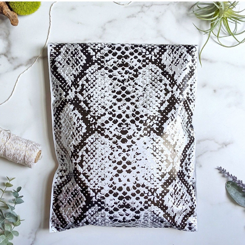 10ct 6x9 snakeskin poly mailer