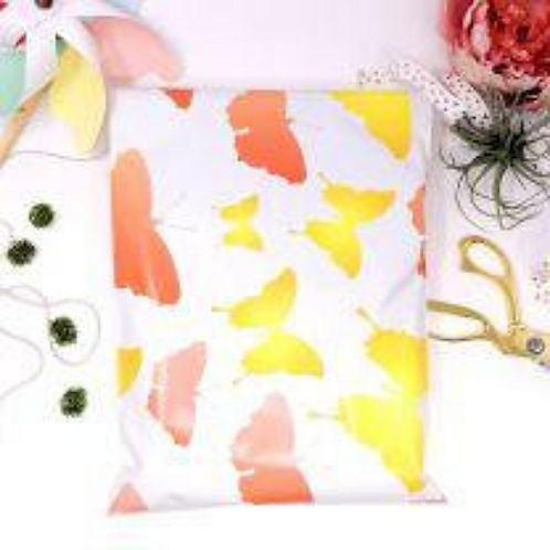 10ct Butterfly Blooming Poly Mailers 10x13