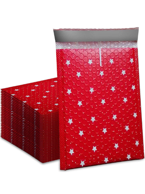 6x8 red  bubble mailer 10ct