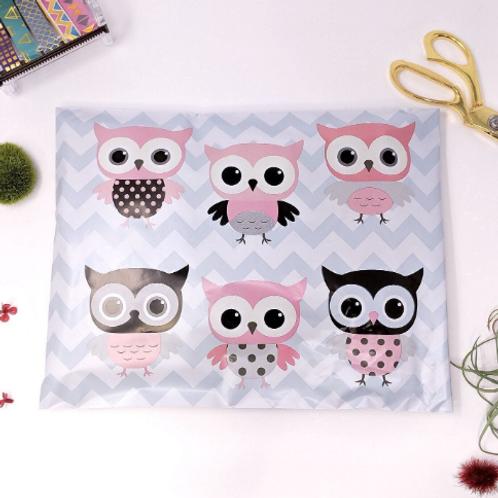 10ct Owl Polymailers 10x13