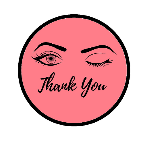 24 Wink Thank You Stickers