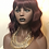 Thumbnail: Synthetic Red Bodywave Wig With Bangs 99j/530