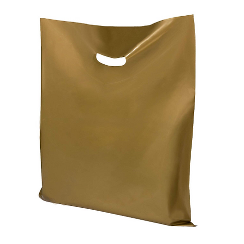25 count 16x18 Gold Merchandise bags with handles