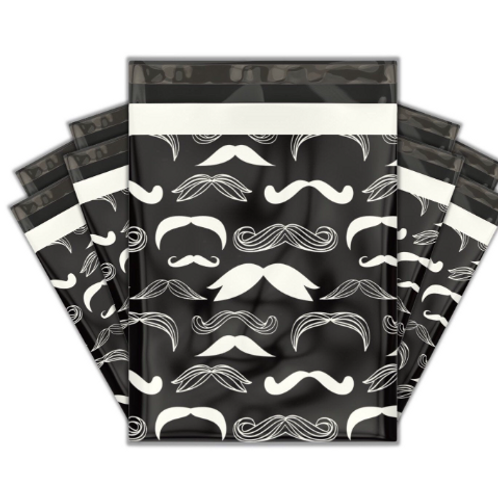 10ct Mustache you a question poly mailers 10x13