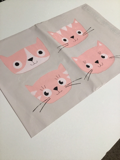 10ct Cats Poly Mailers 10x13