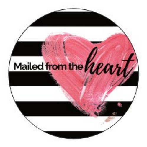 24  Mailed From The Heart Stickers