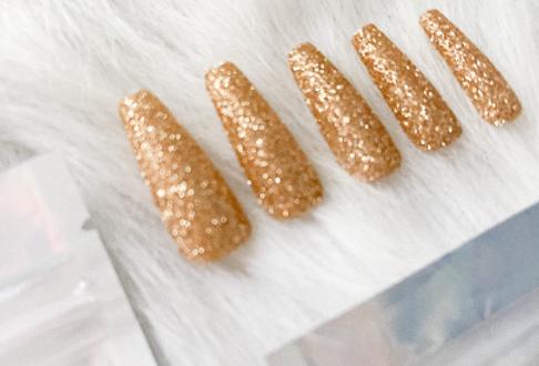 Gold Glitter Press'd
