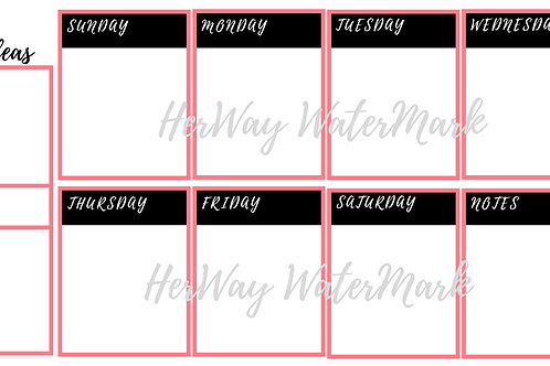 30 day content planner