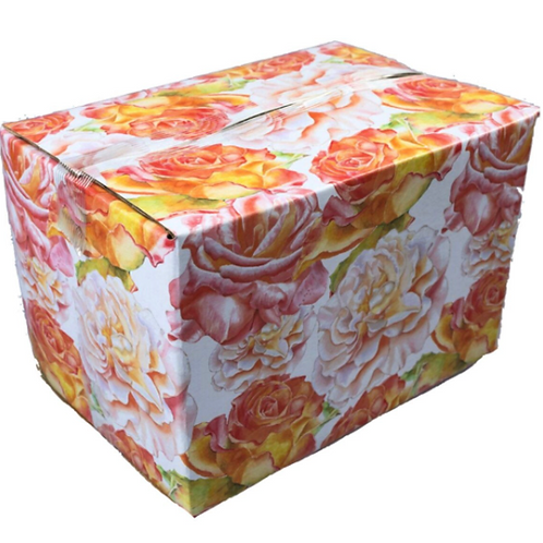 5 boxes 6x4x4 Floral Designer Mailing Box shipping box