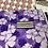 Thumbnail: 10ct Purple Dreams Poly Mailers 10x13 5 purple solid 5 purple flowers