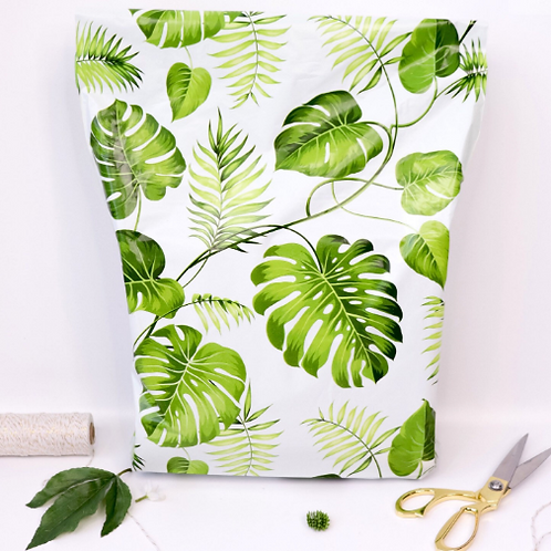 10ct Banana Leaves Poly Mailers 10x13