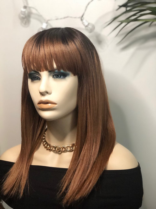 1b/27 Ombre wig with bangs