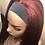 Thumbnail: Synthetic Natural Texture Headband Wig 99j/530 red wig