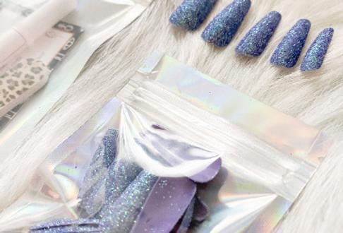 Blue Glitter Press'd