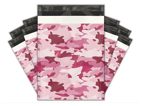 10ct Pink Camo Poly Mailers 10x13
