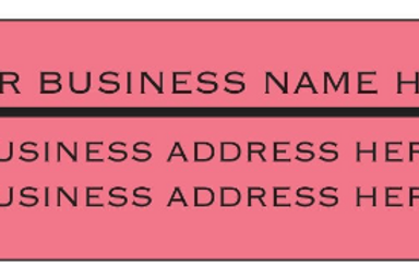 140 Return Address Labels - Custom