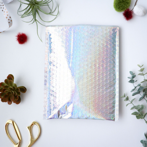 6.5x10 holographic bubble mailers 10ct