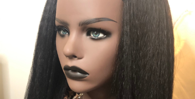Synthetic Natural Texture Headband Wig black 1b