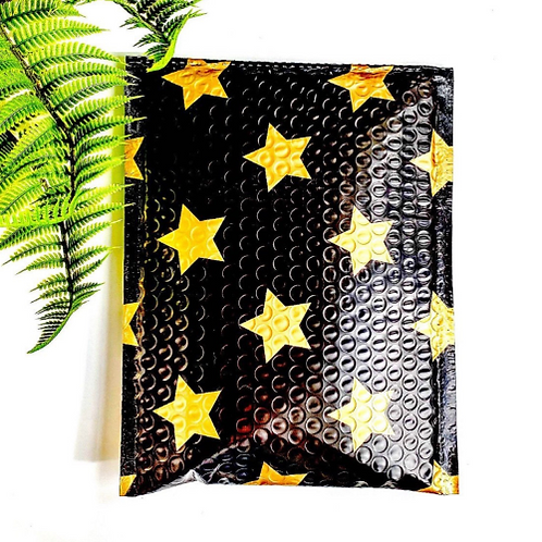 6.5x10 black  and gold bubble mailer 10ct