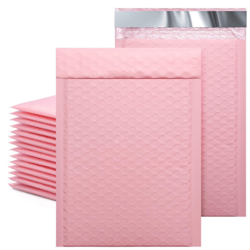 6.5x10 soft pink bubble mailer 10ct