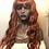 Thumbnail: Copper wig with bangs synthetic hair