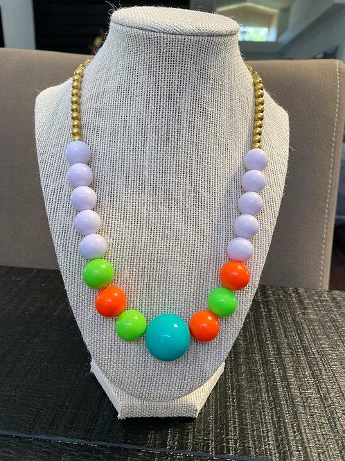 Handmade chunky beaded necklace