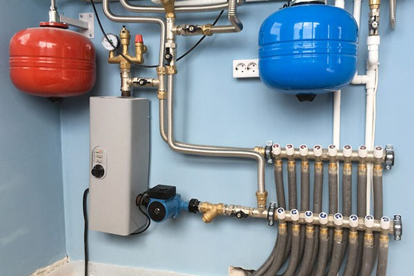 boiler with radiant heating