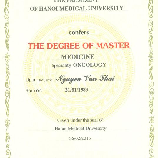 Chứng chỉ đào tạo y khoa