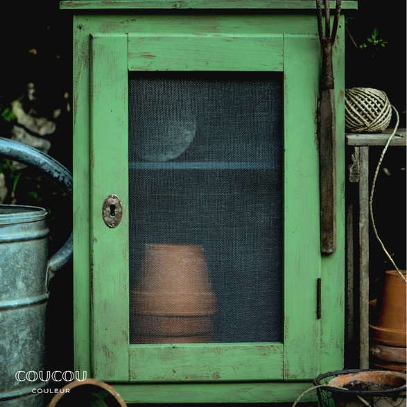 Kreidefarbe Grün Möbel streichen Coucou