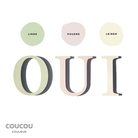 Hochzeits-DIY Coucou Couleur Kreidefarbe