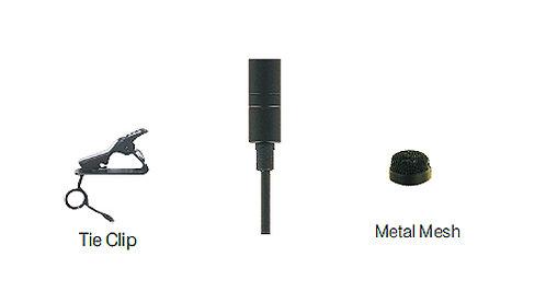 U-Voice UVC863 Pro Lavalier Microphone_w Compact Tie Clip, Metal Wind Cap