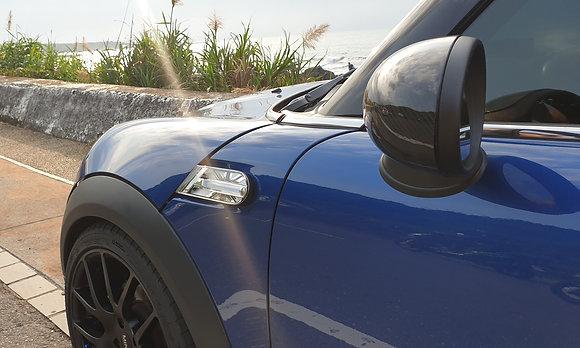 LED Side Indicator Light Black/White for Mini Cooper Gen2 R55-59 2007-13