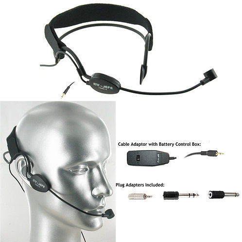 AV-JEFE CM518 Professional Noise Canceling Headset Microphone with On/Off Switch
