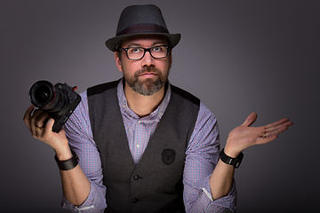 Portrait du Photographe Christophe Bamberger dénommé Photobach