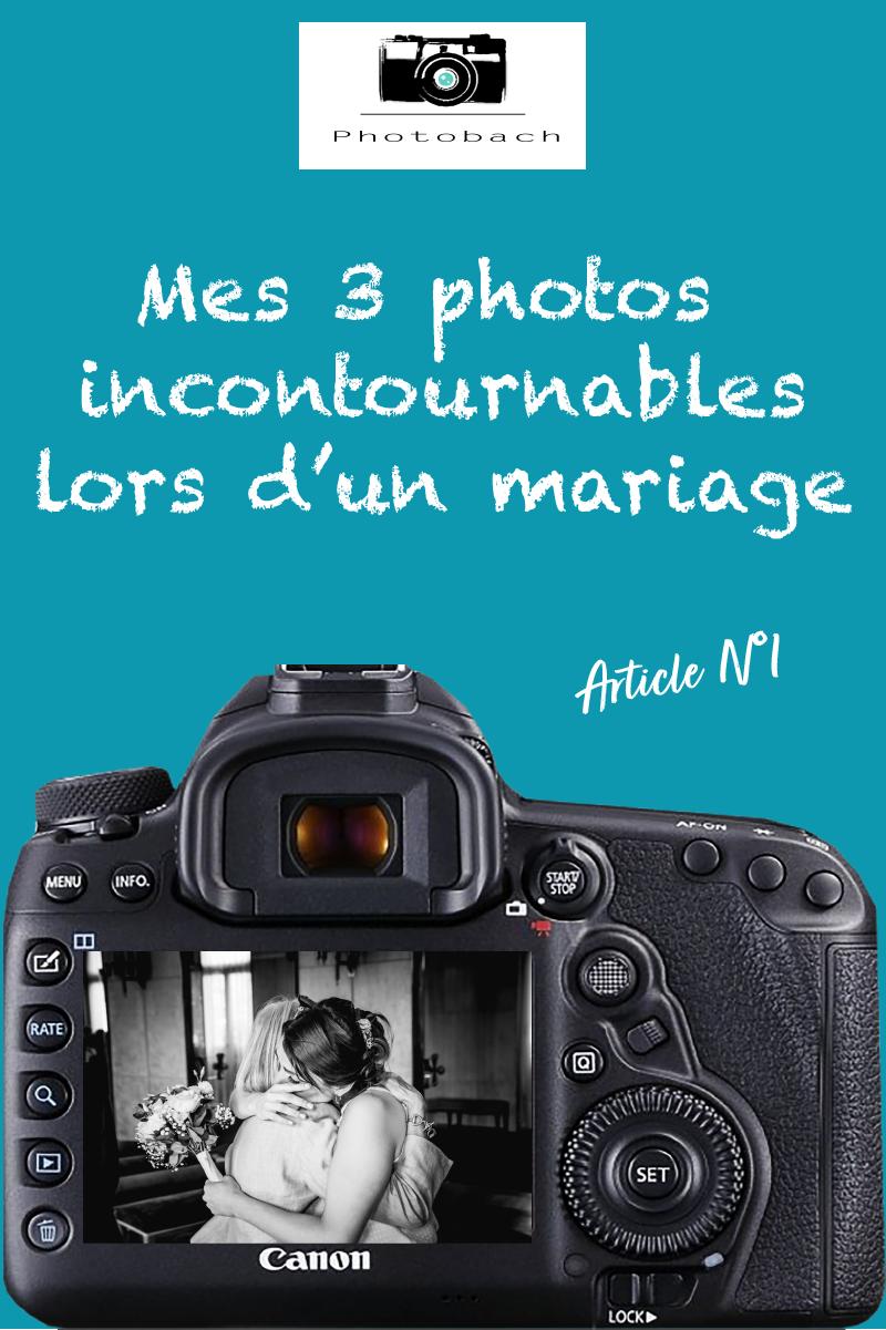 Mes 3 photos de mariage incontournables, quand je shoot un mariage, il y a des moments clés qui fond des photos inoubliables et de grandes émotions. C'est pour cela que j'aime photographier des mariés et voir le bonheur dans leur yeux à la découverte des photos.
